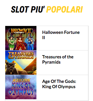 slot popolari lottomatica